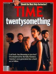 Gen X has also had their share of doubt: Time's Gen X cover story, 1990.