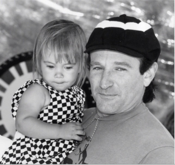 Robin William's last post on Instagram,  with daughter Zelda.