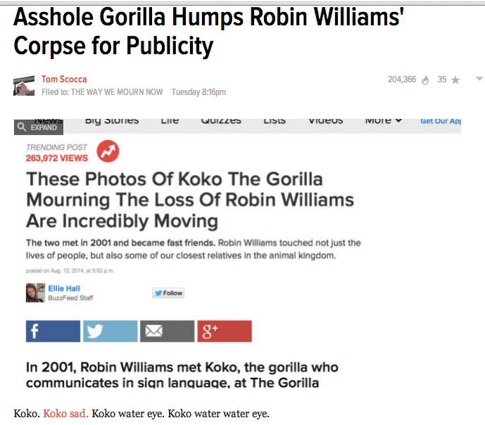 BULLSH!T SH!T WATCH GAWKER