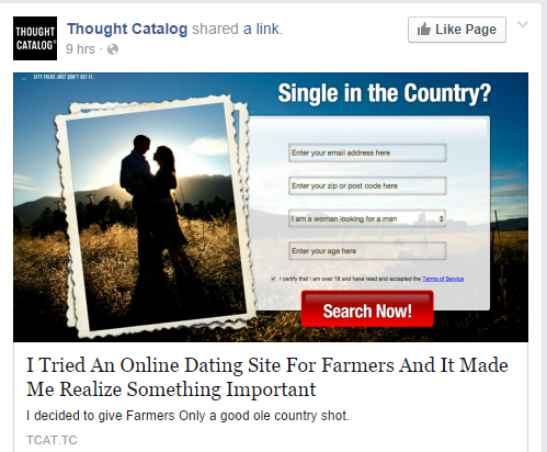 It made you realise the online dating site is nothing like Farmer Wants a Wife  It made you realise the importance of looking where you