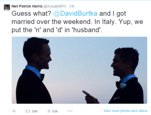 Neil Patrick Harris wedding